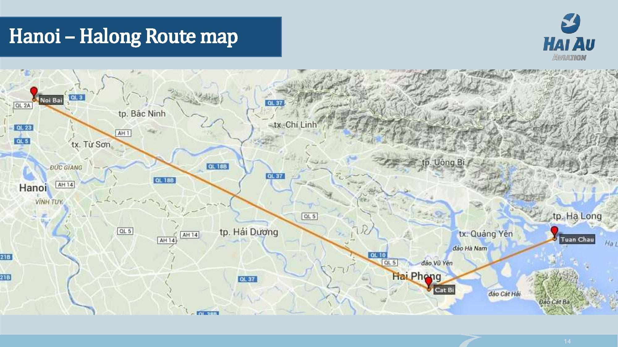 Flight from HaNoi to HaLong